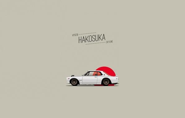 Картинка Рисунок, Ниссан, Nissan, GT-R, Арт, 2000, Coupe, 1970, Skyline, Скайлайн, ГТ-Р, C10, KPGC10, Hakosuka