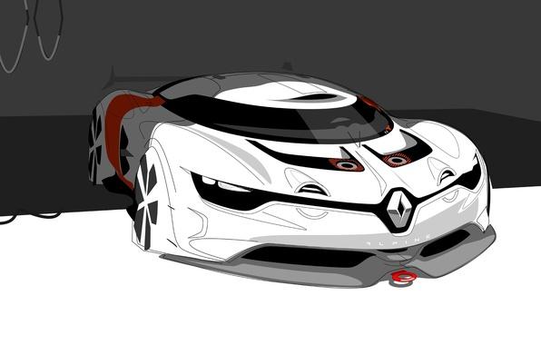 Картинка Concept, арт, Renault, Рено, art, передок, sketch, ренднринг, Алпайн, Alpine, A110-50
