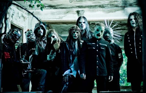 Фото обои слипнот, металл, slipknot, группа