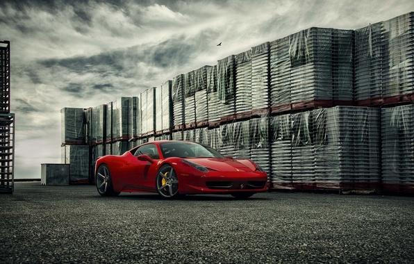 Картинка Ferrari, 458, Front, Forged, Series, Italia, Vossen, Wheels, Precision, VPS303