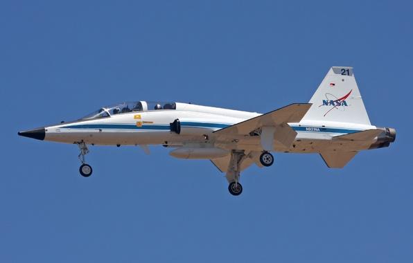 Картинка полет, самолёт, NASA, реактивный, двухместный, сверхзвуковой, T-38N Talon