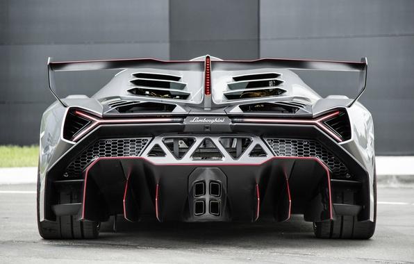 Картинка зад, Авто, Lamborghini, Машина, суперкар, Veneno