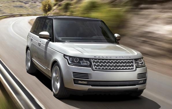 Картинка дорога, Land Rover, Range Rover, передок, Ленд Ровер, Ренж Ровер