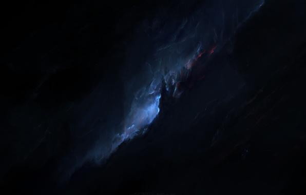 Картинка space, blue, cosmos, galaxy