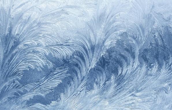 Картинка холод, лед, зима, макро, фон, обои, окно, мороз, Новый год, узор на стекле