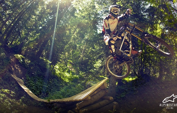 Фото обои велосипед, downhill, MTB, freeride