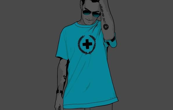 Картинка крест, Вектор, футболка