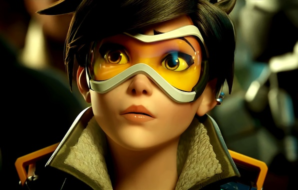 Картинка Blizzard Entertainment, Overwatch, Tracer, Трейсер