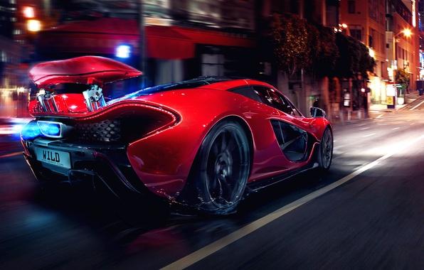 Картинка Concept, Glow, Lights, Night, Street, Tuning, Supercar, Motion, Sportcar, Spoiler, Hypercar, Mclaren