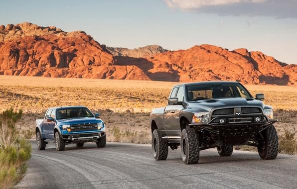 Картинка Ford, Форд, Додж, Машины, Dodge, Раптор, Raptor, Baja, Ram, Рэм, SVT 150, Runner