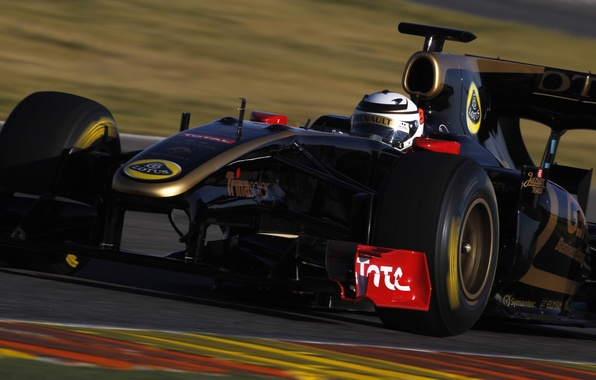 Картинка Lotus, Renault, Лотус, Рено, Formula 1, Racing, Кими Райкеннен, R30, Valencia, Kimi Raikkonen, Comeback