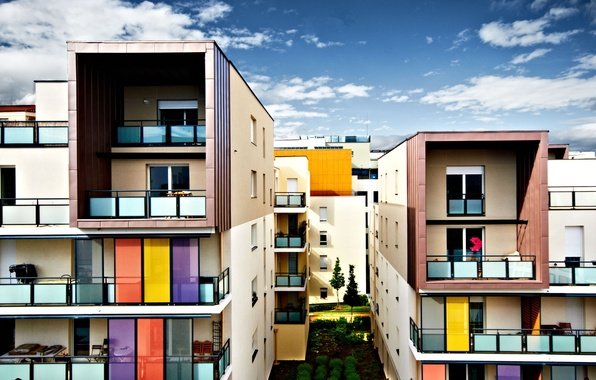 Картинка город, Франция, дома, архитектура, France, Lyon, Лион