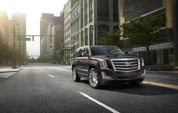 Картинка car, город, внедорожник, Cadillac Escalade