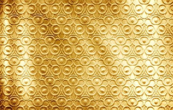 Картинка металл, фон, золото, узор, текстура, golden, pattern