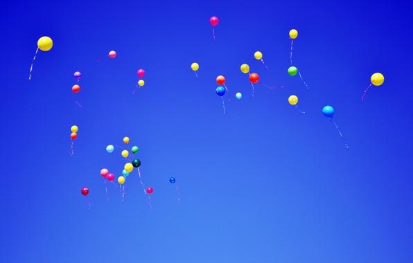 Обои для рабочего стола воздушные шары