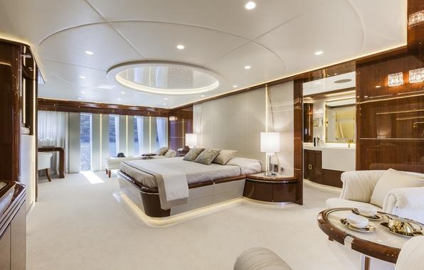 Картинка стол, лампы, кровать, подушки, окно, кресла, стул, постель, лежак, столик, спальня, interior, desigen.