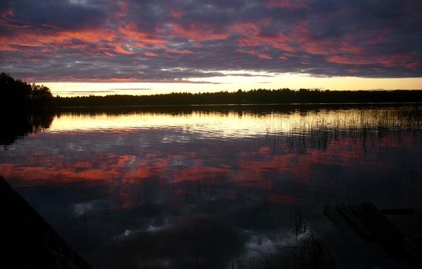 Картинка Nature, Sky, Sweden, Lake, Umea