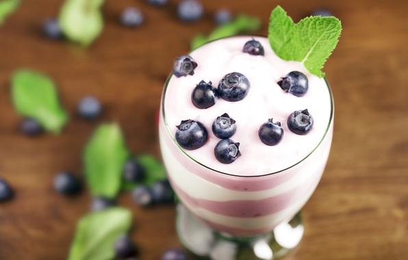 Картинка ягоды, черника, fresh, десерт, sweet, dessert, голубика, berries, йогурт, yogurt