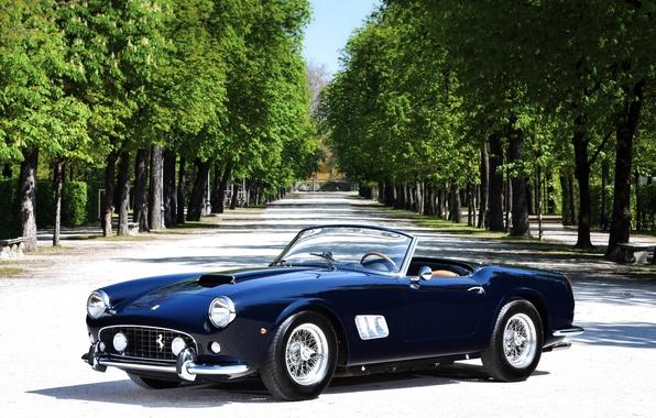 Картинка Ferrari, феррари, калифорния, Spyder, California, спайдер, 1963, 250 GT, Passo Corto