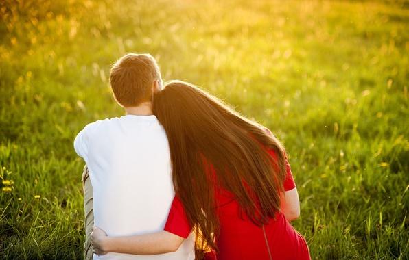 Картинка зелень, лето, трава, девушка, солнце, цветы, природа, фон, отдых, widescreen, обои, романтика, настроения, женщина, нежность, …