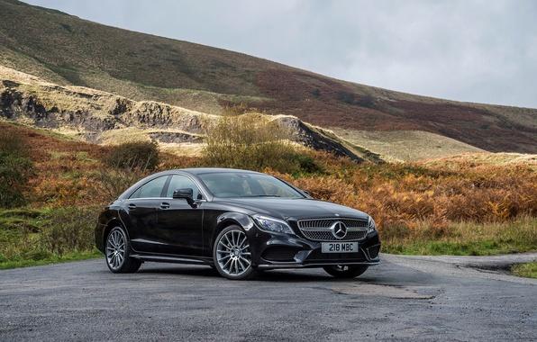 Картинка фото, черный, тюнинг, Mercedes-Benz, CLS 350, автомобиль, металлик, BlueTec, 2014