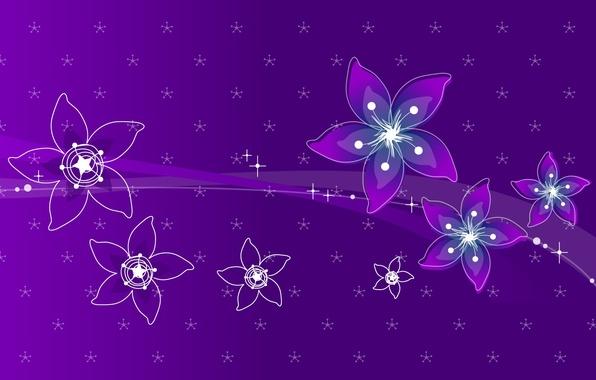 Фото обои фиолетовый, полосы, лепестки, цветы