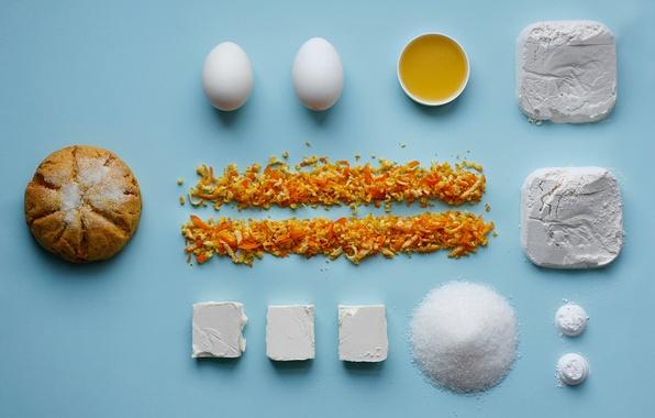 Картинка масло, яйца, сахар, мука