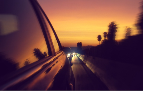 Картинка дорога, машины, фото, фон, обои, трасса, обработка, пробка, картинка