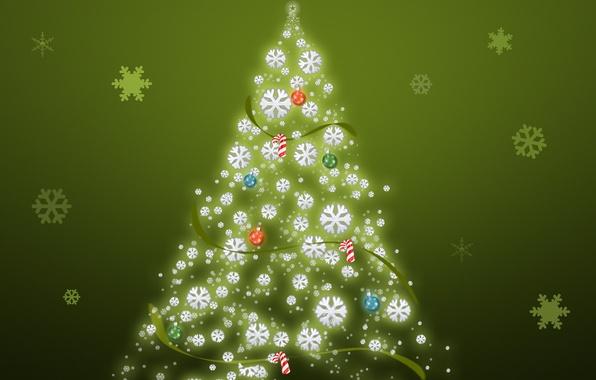 Картинка обои, елка, картинка, год, новый