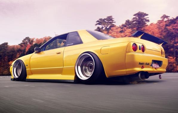 Обои Nissan, Skyline, ниссан, R32, скайлайн картинки на