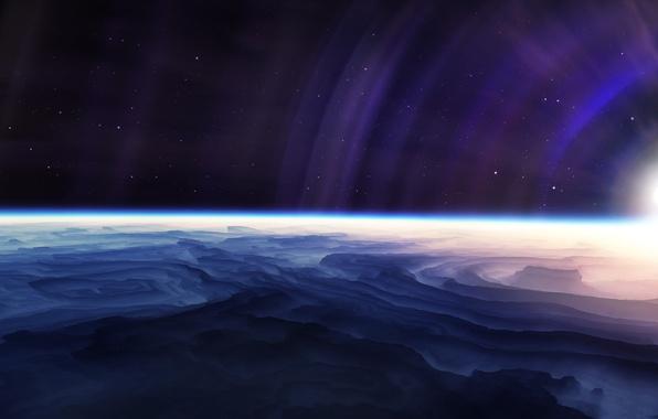 Картинка звезды, свет, планета