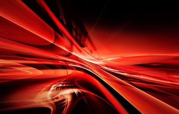 Картинка линии, красный, абстракция, узор, abstraction