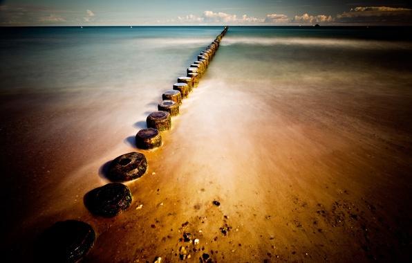 Картинка море, пляж, берег