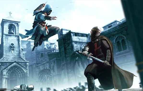 Картинка доспехи, мечь, Assassins creed, Game