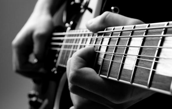 Картинка guitar, hands, musician