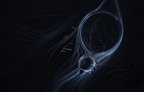 Картинка круги, абстракция, узоры, точки, линий, circles, patterns, lines, abstraction, 2560x1600, dots