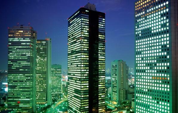 Картинка Япония, Токио, Tokyo, District, Japan, Shinjuku