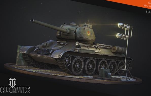 Картинка танк, USSR, СССР, танки, WoT, Мир танков, tank, World of Tanks, tanks, Т-34-85, Wargaming.Net, BigWorld