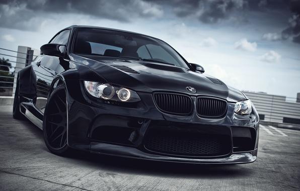 Картинка чёрный, bmw, бмв, wheels, black, e93, дневной свет