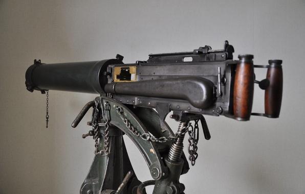 Картинка оружие, фон, вид сбоку, пулемёт, станковый, Vickers, «Виккерс»