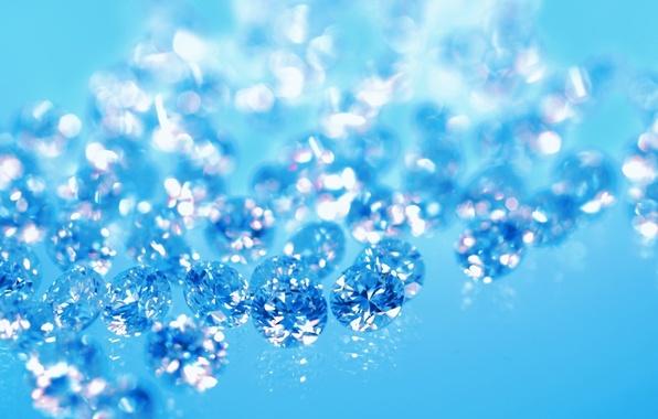 Фото обои бриллианты, синий