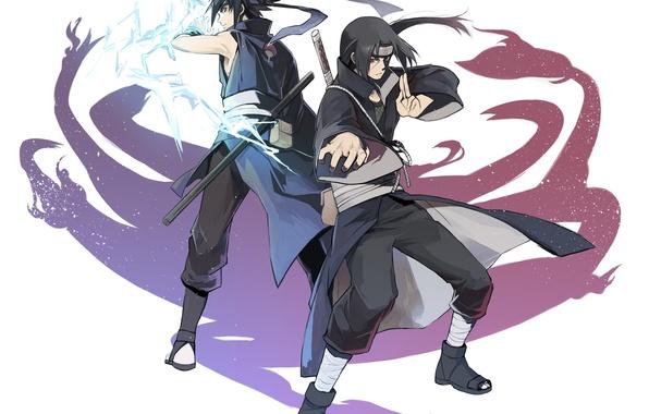 Картинка naruto, art, brothers, Itachi Uchiha, Uchiha, Sasuke Uchiha