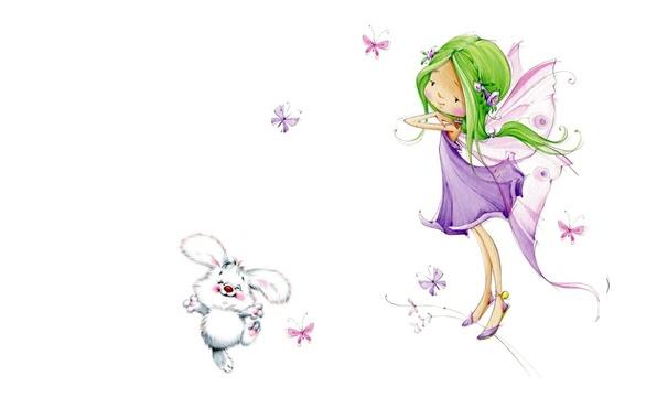 Картинка арт, девочка, детская, Марина Федотова, феечка
