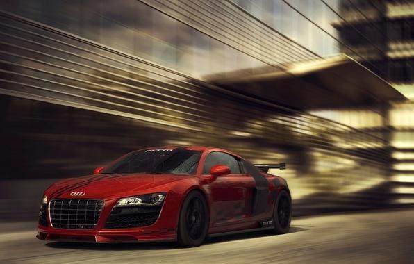 Картинка Audi, red, front, обвес, MTM, bodykit