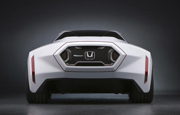 Картинка car, авто, белый, фон, логотип, Машина, Honda, стоит