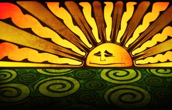 Картинка рисунок, цвет, Солнце