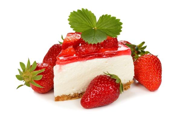 Картинка ягоды, клубника, торт, пирожное, cake, десерт, выпечка, сладкое, sweet, strawberry, dessert, berries
