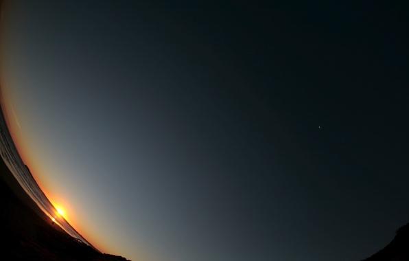 Картинка небо, восход, обоя