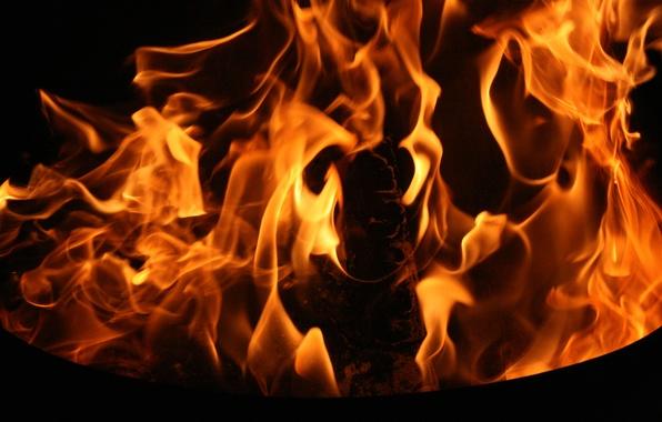 Картинка фон, огонь, пламя, обои, вечер, костер, разное
