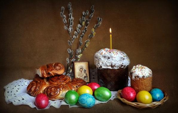 Картинка праздник, весна, пасха, натюрморт, композиция